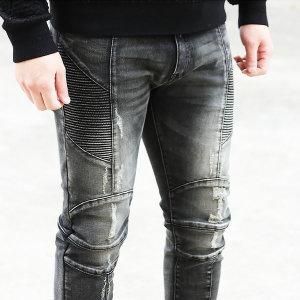 청바지 남자 남성 스판 슬림 블랙진 바이커진 CR5908