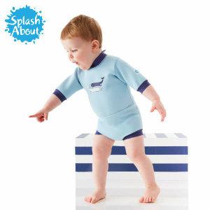 (현대Hmall) 스플래시어바웃  수영장기저귀 일체형 아기수영복 해피내피 웨트슈트(빈티지모비)