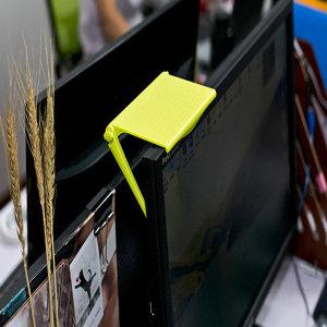 모니터 선반-그린 거치대 받침대 사무실 정리정돈