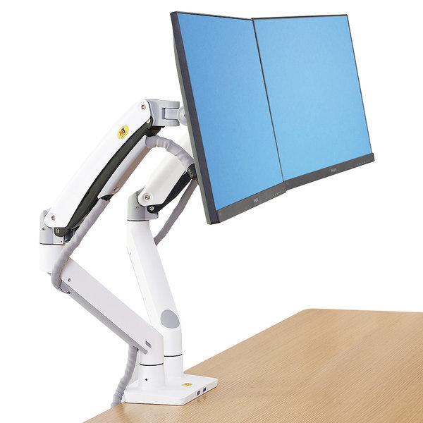 NB-F195A 듀얼 모니터 책상 거치대 화이트 색상 신형