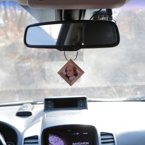 자동차사진걸이 차량용 룸미러 양면 우드 원목 액자