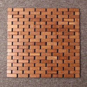 (사이즈 39cm) 쿨썸머 벽돌무늬 대나무 방석/여름