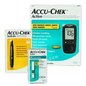 액티브 혈당측정기+시험지50매+채혈기+침25개+파우치