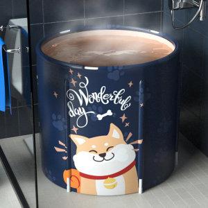 욕실 접이식욕조 간이이동식 원룸반신욕기 야외목욕통