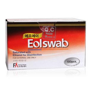 FA 이올스왑 100매 에탄올 알콜솜 알콜스왑 의약외품