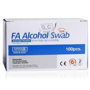 FA 알콜스왑 100매 의약외품 알콜솜 소독솜 이올스왑