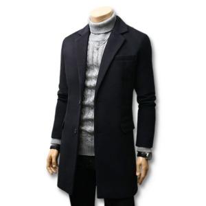 봄신상 코트 더플/남자옷/자켓 하프롱 울 코트
