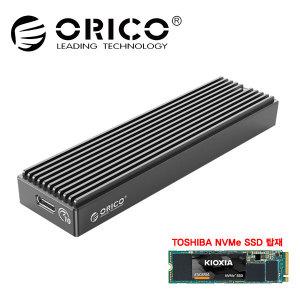 ORICO M2PV-C3(블랙)+도시바 NVMe 500GB 내장 외장SSD