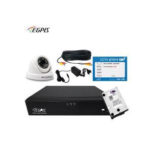 500만화소 4채널녹화기 자가풀세트 1TB HDD+돔카메라1