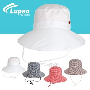 (루페오) 루페오 여성 투웨이 메쉬와이어 기능성 벙거지 체크 챙와이어 폴딩 메쉬벙거지 골프 모자/ 등...