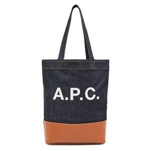 (A.P.C) A.P.C. 21SS 악셀 데님 토트백 카멜 CODDP M61444/10010857