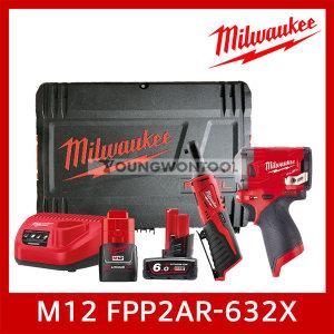 M12 FPP2AR-632X/0X 충전 임팩 렌치 라쳇 콤보 3A 6A