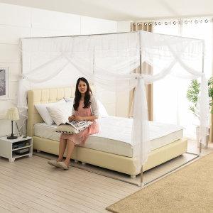 사각 모기장 (고급형)-대형/ 침대 캐노피 텐트 원터치