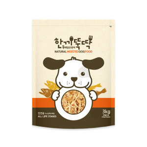 한끼뚝딱 강아지 애견 습식 사료 황태와 소고기 3kg