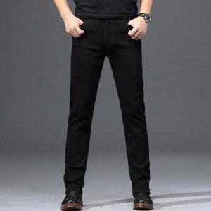 남자 블랙진 청바지 일자핏 스판진 데님 바지 JN201 _S