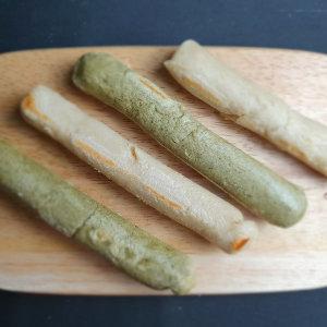 현미가래떡 반반세트(현미500gx2+현미쑥500gx2)/국내산