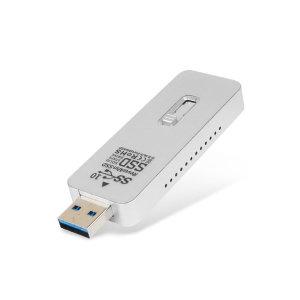 리뷰안UX550A USB외장SSD 512GB C타입젠더 슬라이드