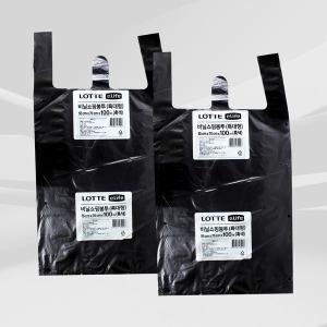 이라이프 비닐 쇼핑 봉투 (특대) 흑색 100매 x 2개