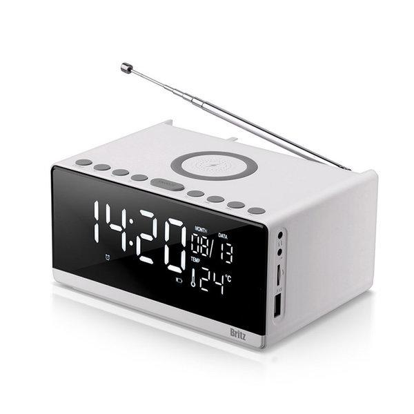 BA-MCK2 무선충전 알람 시계 라디오 블루투스 스피커