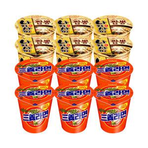 국물컵라면 12입 (삼양라면/나가사끼짬뽕) - 상품 이미지