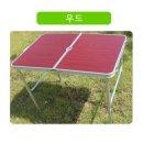 (색상 우드) 90X60cm 캠핑 테이블 접이식 부직포 레져