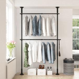 2단 스크류 행거 옷걸이 옷 헹거 드레스룸 시스템 M