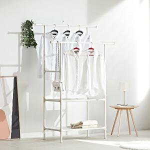 모듈랙 드레스룸 스탠드옷걸이 2단 선반형 원룸 행거