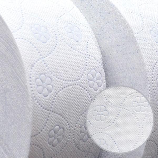 100% 무형광 장폭 3겹 대용량 꽃무늬 점보롤 화장지