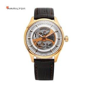 HAMILTON 해밀턴 H42545551 재즈마스터 뷰매틱 스켈레톤 젠트 남성용 가죽시계 40mm