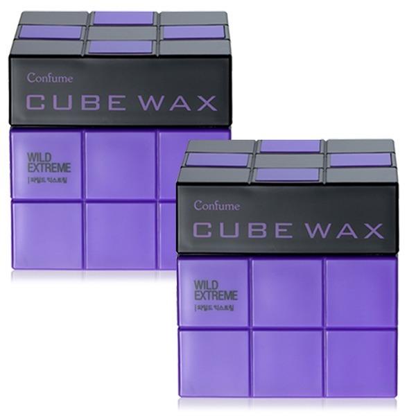 컨퓸 큐브 헤어왁스 80g 1+1 와일드 익스트림