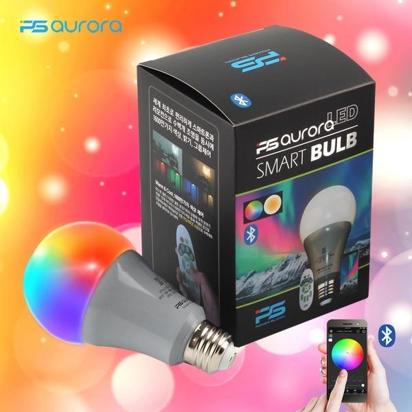 피에스오로라 스마트 LED 전구 스몰볼형 색상 원격제어
