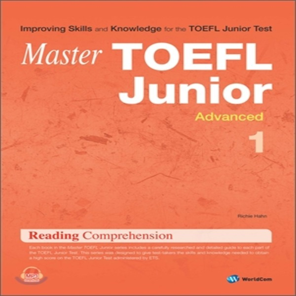 (중고)Master TOEFL Junior Reading Comprehension Advanced 1  Richie Hahn