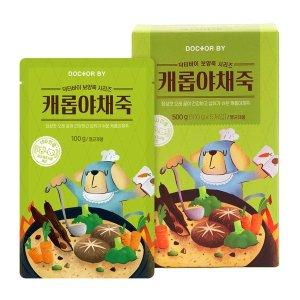 닥터바이 애견 캐롭야채죽 강아지 보양식 100g 5개입