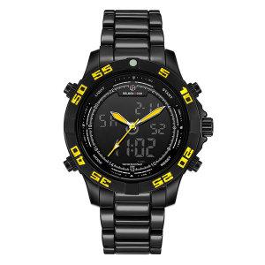 정품 골든아워 GH112 블랙 옐로우 정장시계 손목 시계