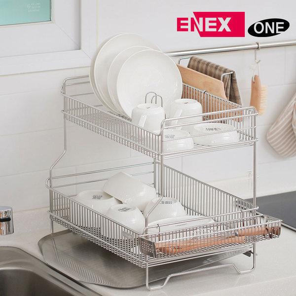 에넥스 원 - 퀸 올스텐 스텐드 식기건조대 2단 세로형