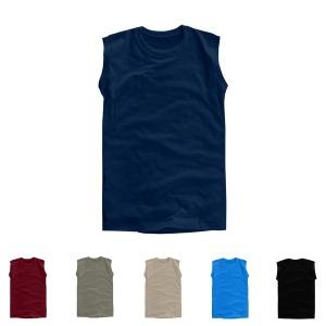 민소매30수 라운드 티셔츠 나시티 면티 흰티 무지티