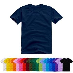 반팔20수 라운드 티셔츠 22색상 면티 무지티 단체티