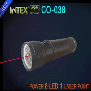 8+1 레이저 손전등 후레쉬 랜턴 캠핑 낚시 등산 CO-038