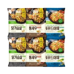 풀무원 야채볶음밥3종 각2봉(씨푸드+닭가슴살+통새우)