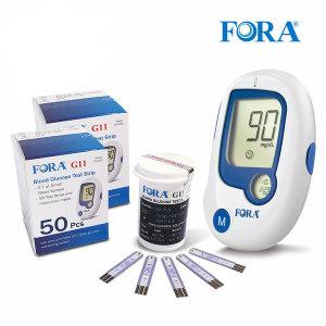 FDA인증 유진포라 혈당계 +시험지100+침110+솜100 매