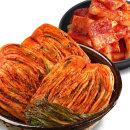 국산)전라도 배추김치1kg+석박지1kg/아삭한 김치 A