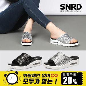 슬리퍼 여성 신발 SN240 에어 글리터 실내화 사무실