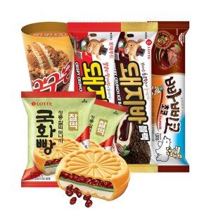 국화빵/돼지바/돼지바블랙/빠삐코/구구콘 5종 총28개입