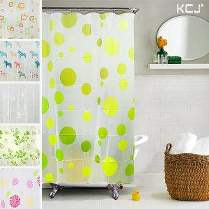샤워커튼 욕실커튼 목욕 압축봉 비닐 파티션 -PEVA180