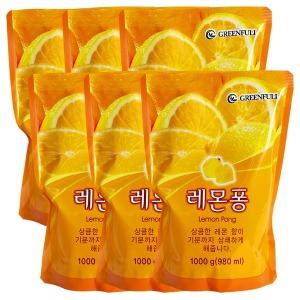 레몬 주방세제1Lx6개 (특가) /자연퐁 퐁퐁 트리오 순샘