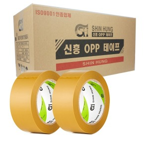 신흥 박스테이프 경포장 40M 황색 50개