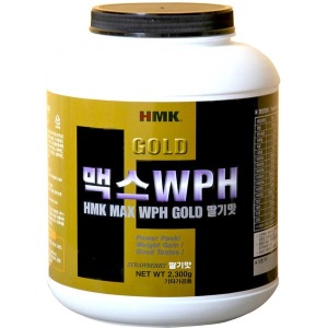 HMK 맥스WPH골드 딸기맛 2300g 단백질보충제 프로틴