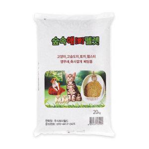 고양이모래 고양이화장실 숲속애 미송펠렛35L (20kg)