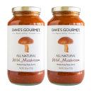 2개 Daves Gourmet 와일드 머쉬룸 파스타 소스 723 g 빠른직구