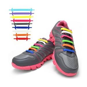 매듭없는 실리콘 신발끈 끼우는 운동화끈 20P T레이스